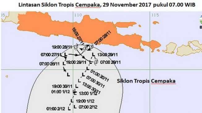 Badai Siklon Cempaka dan Badai Dahlia